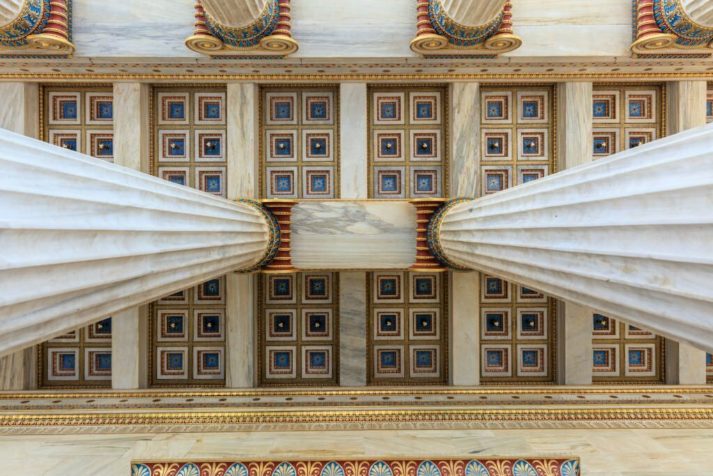 athens academy ceiling