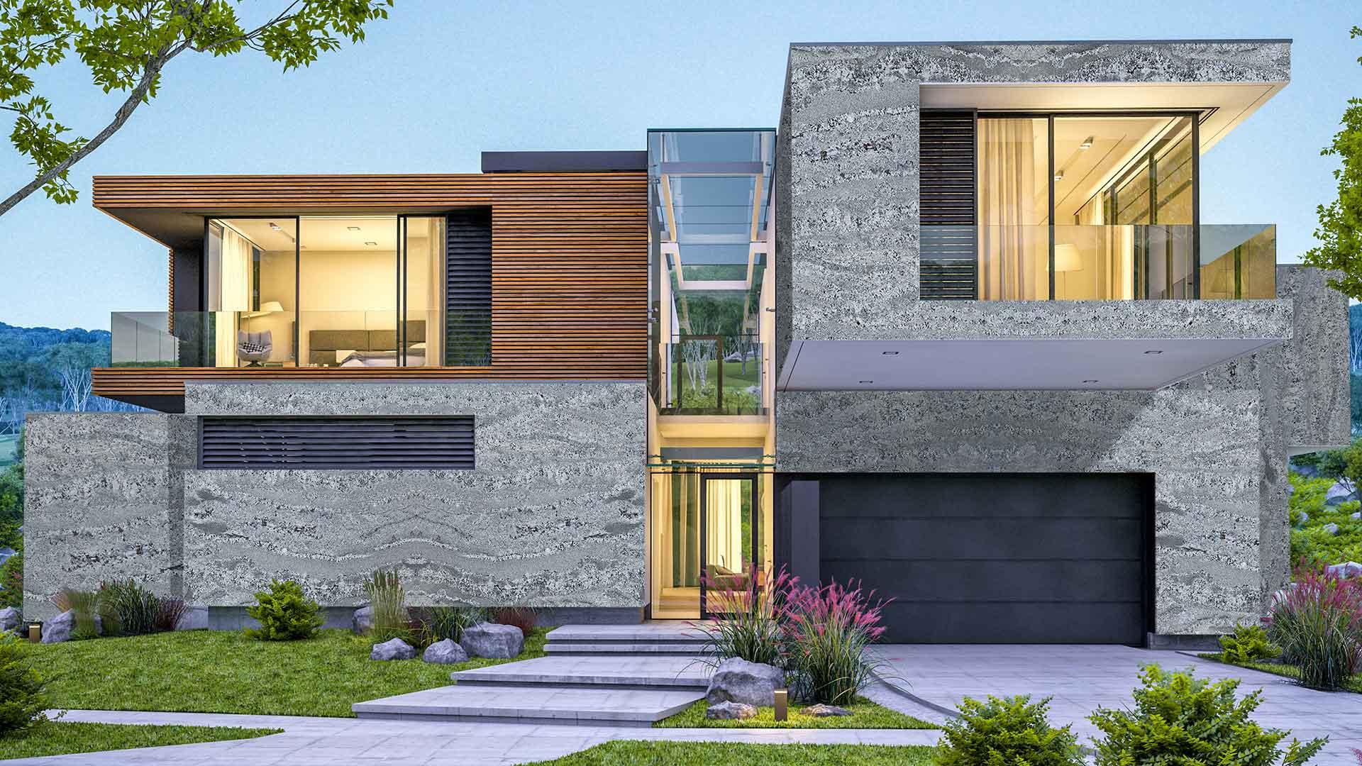 casa externa Ash Blue 1