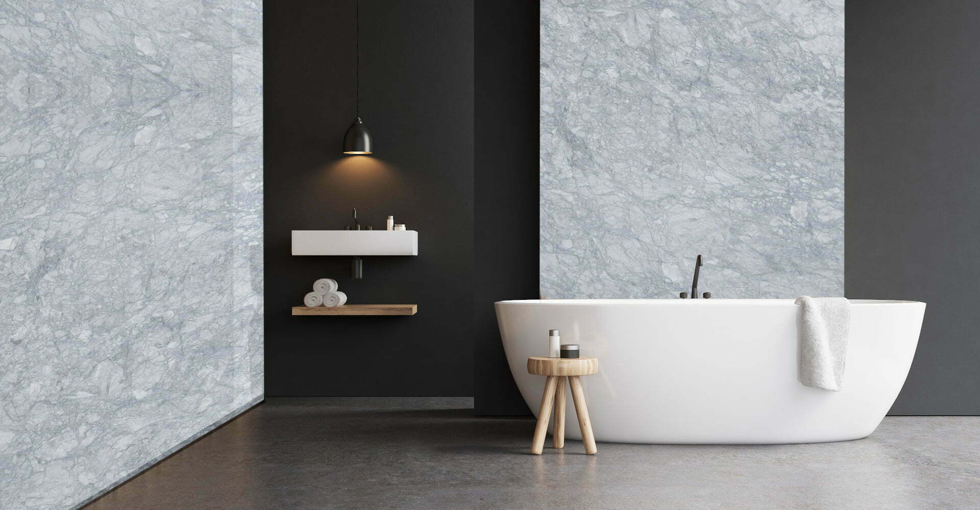 marble brazilian arabescato bathroom