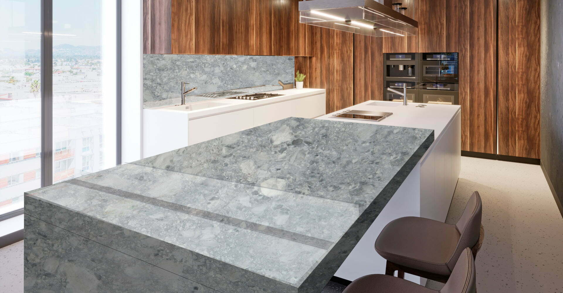 marble brazilian arabescato kitchen