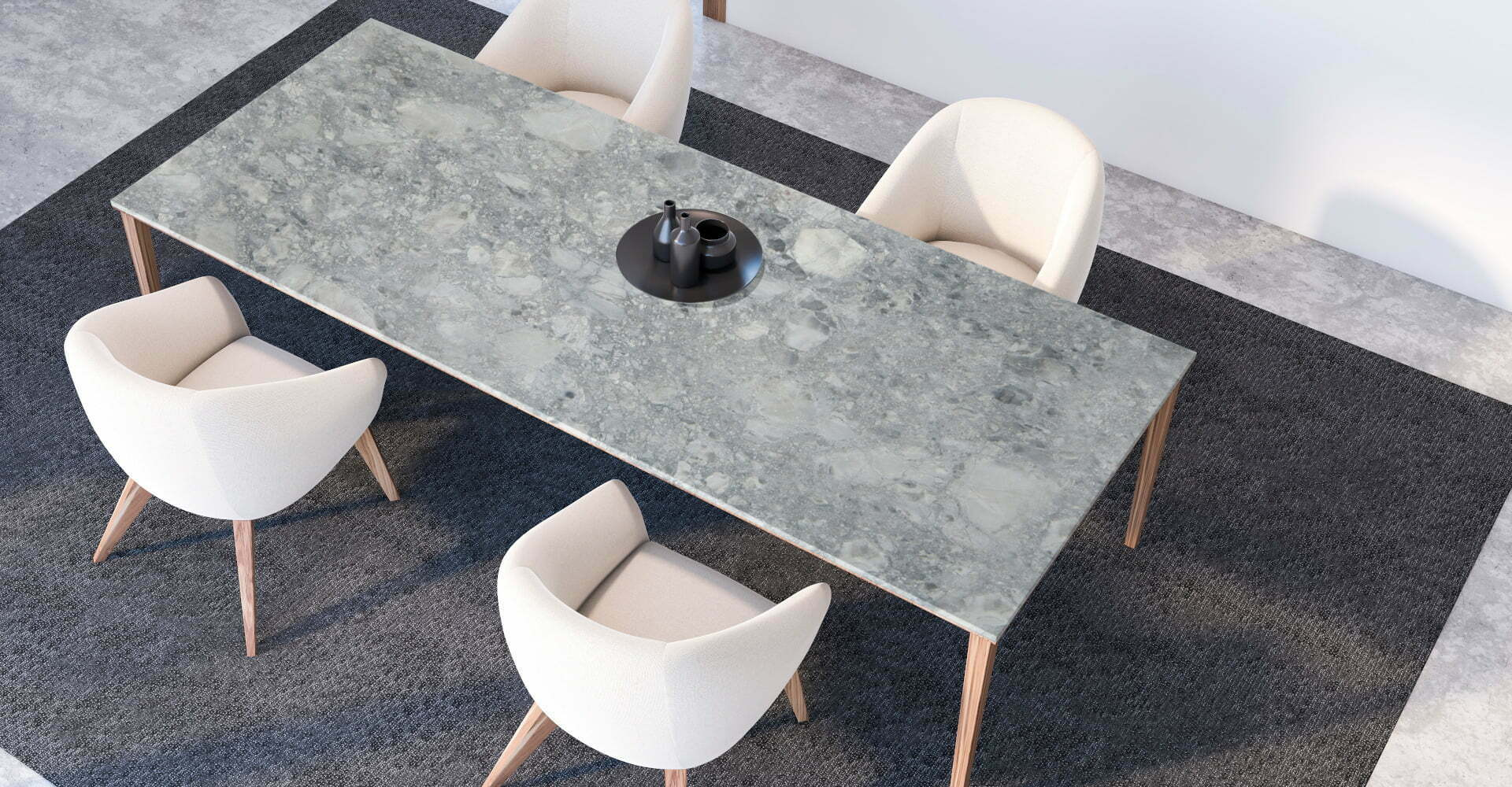 marble brazilian arabescato table