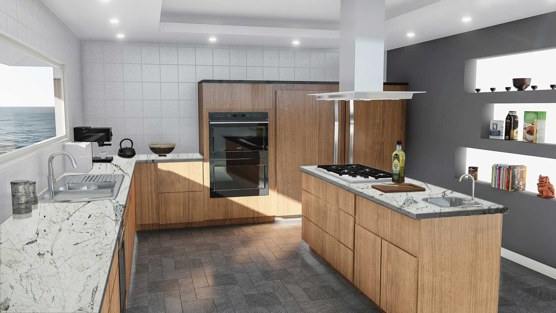 granite alba kitchen
