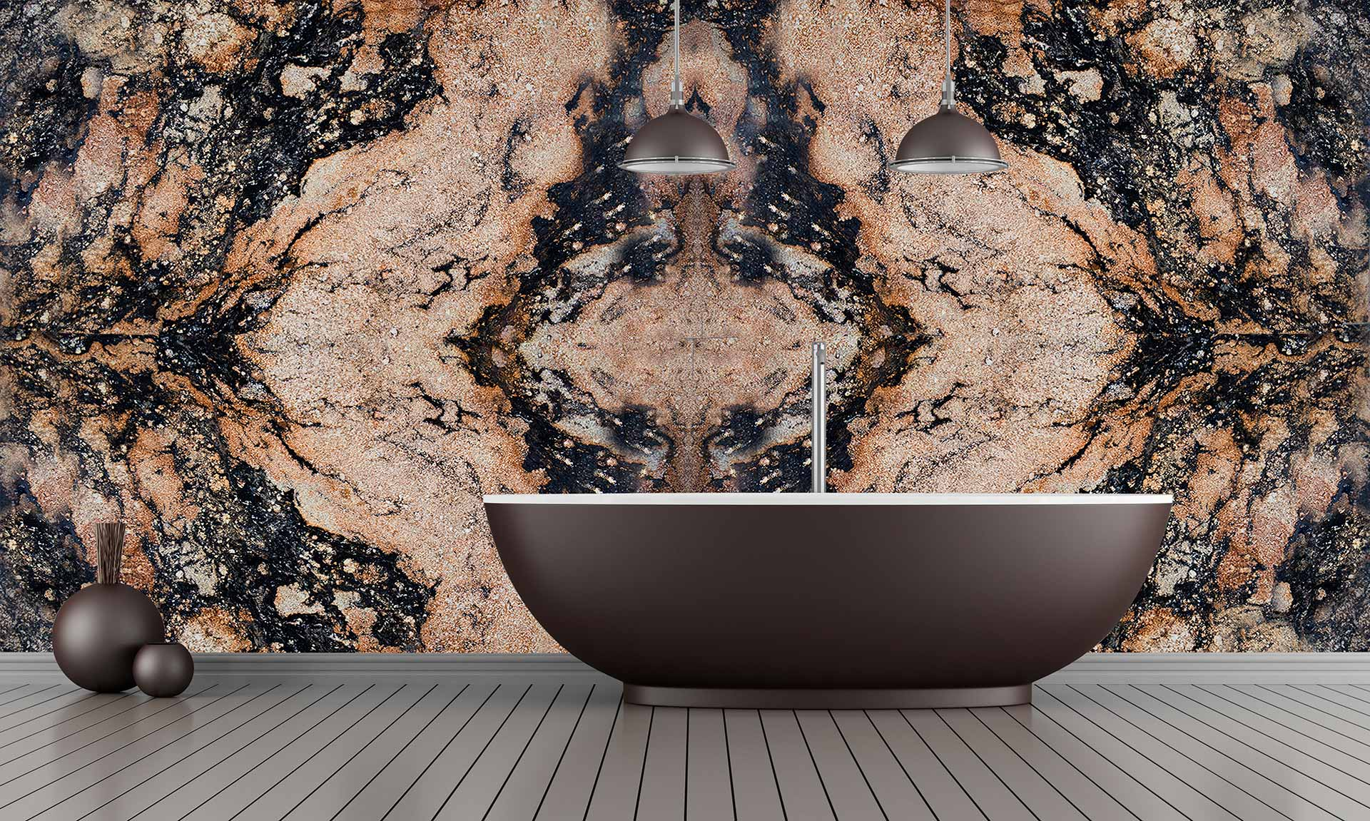 granite magma gold bathroom