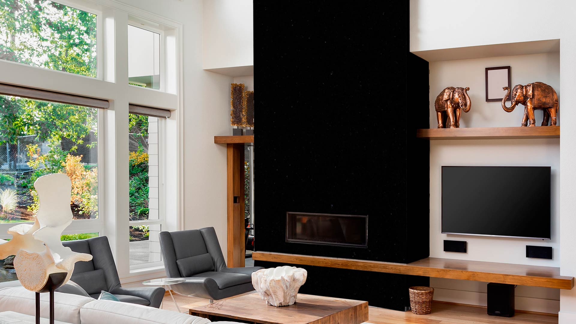granite ubatuba fireplace
