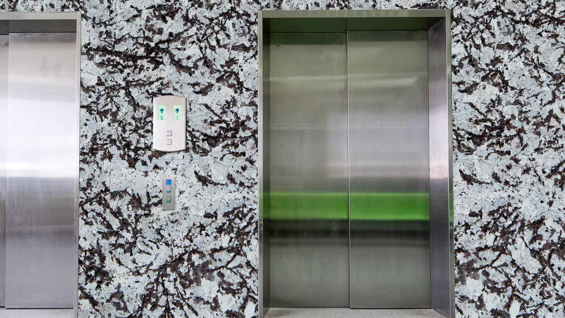 granite white viena elevator
