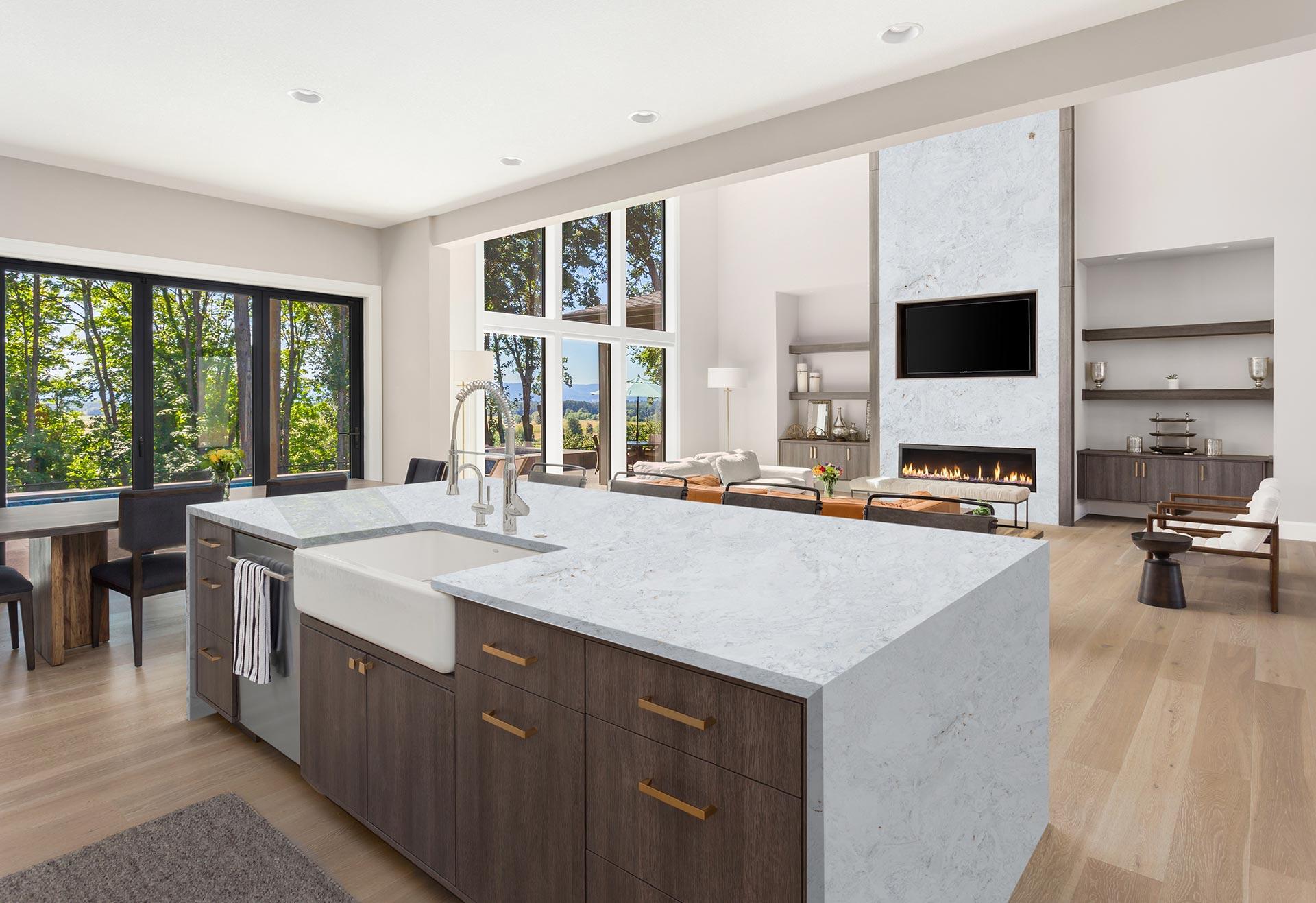 marble calacatta bianco kitchen