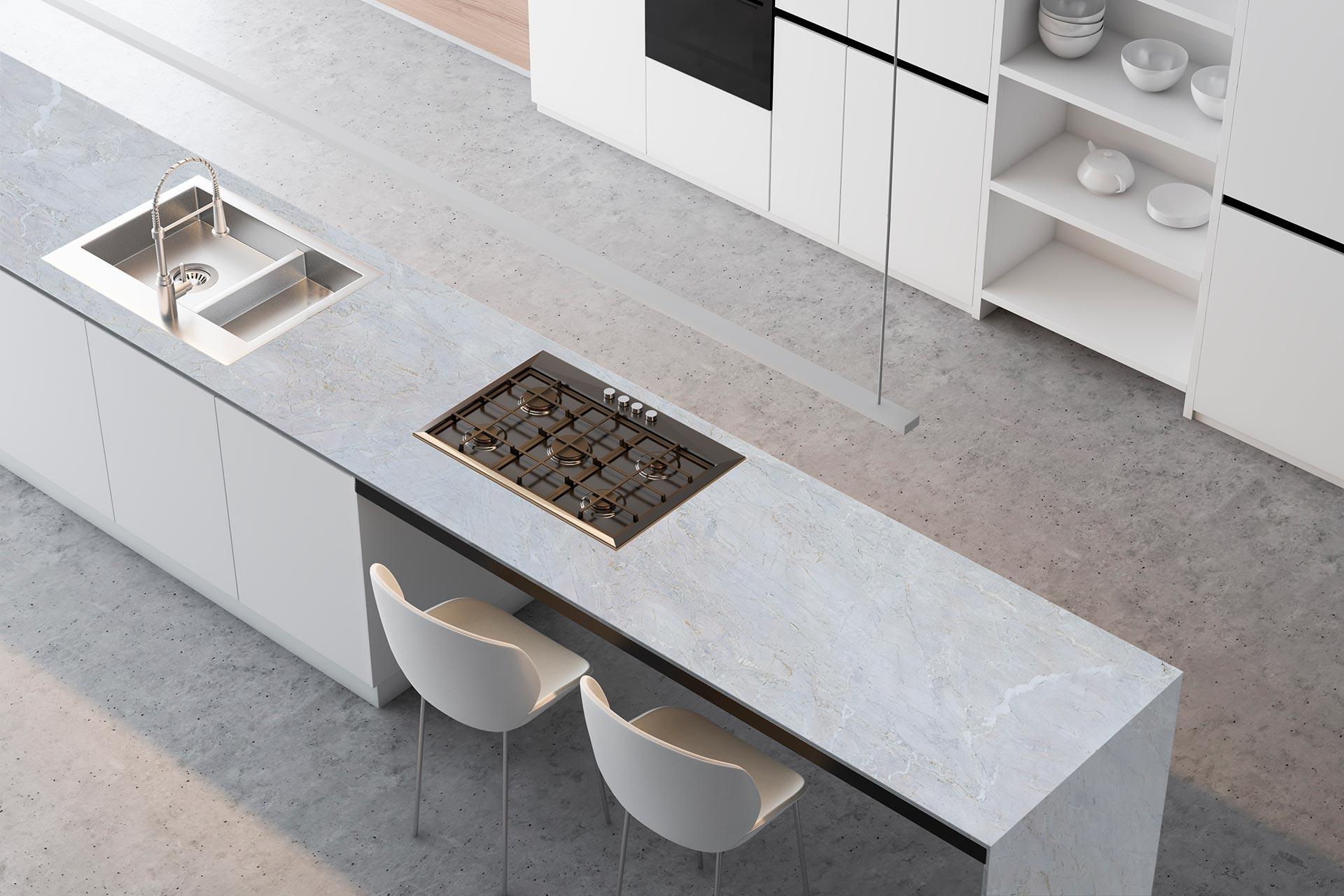 marble calacatta grigio kitchen 1