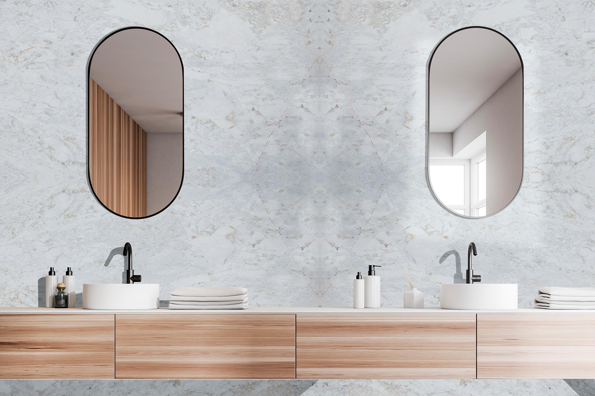 marble calacatta oro bathroom