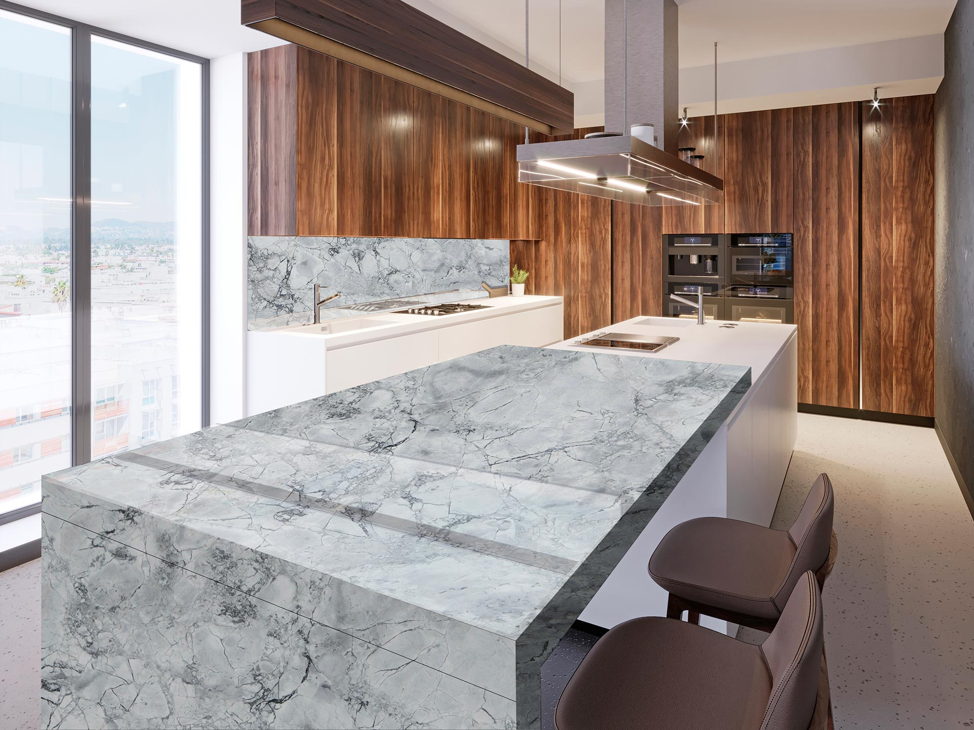 marble calacatta white kitchen 1