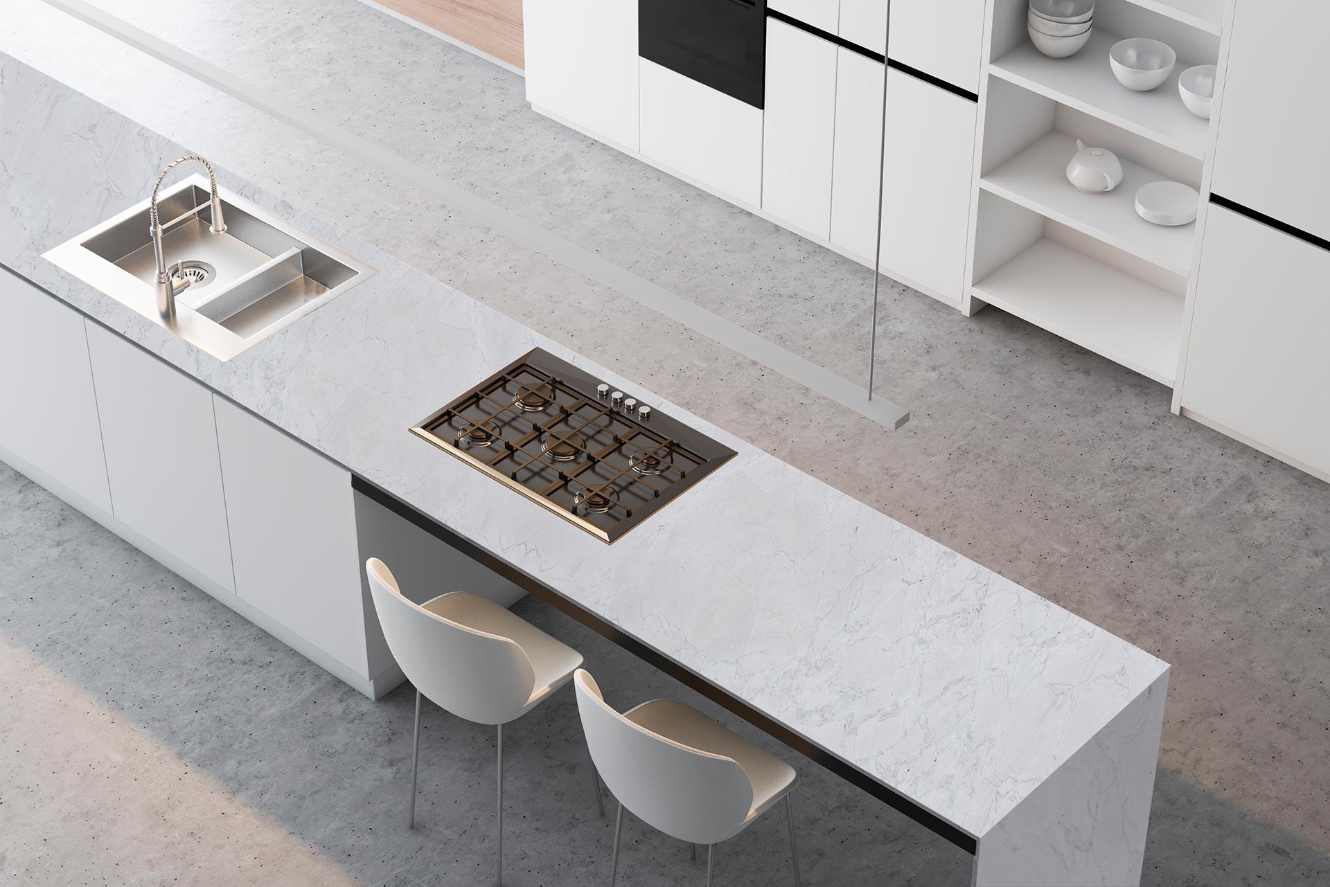 marble novulato grigio countertop
