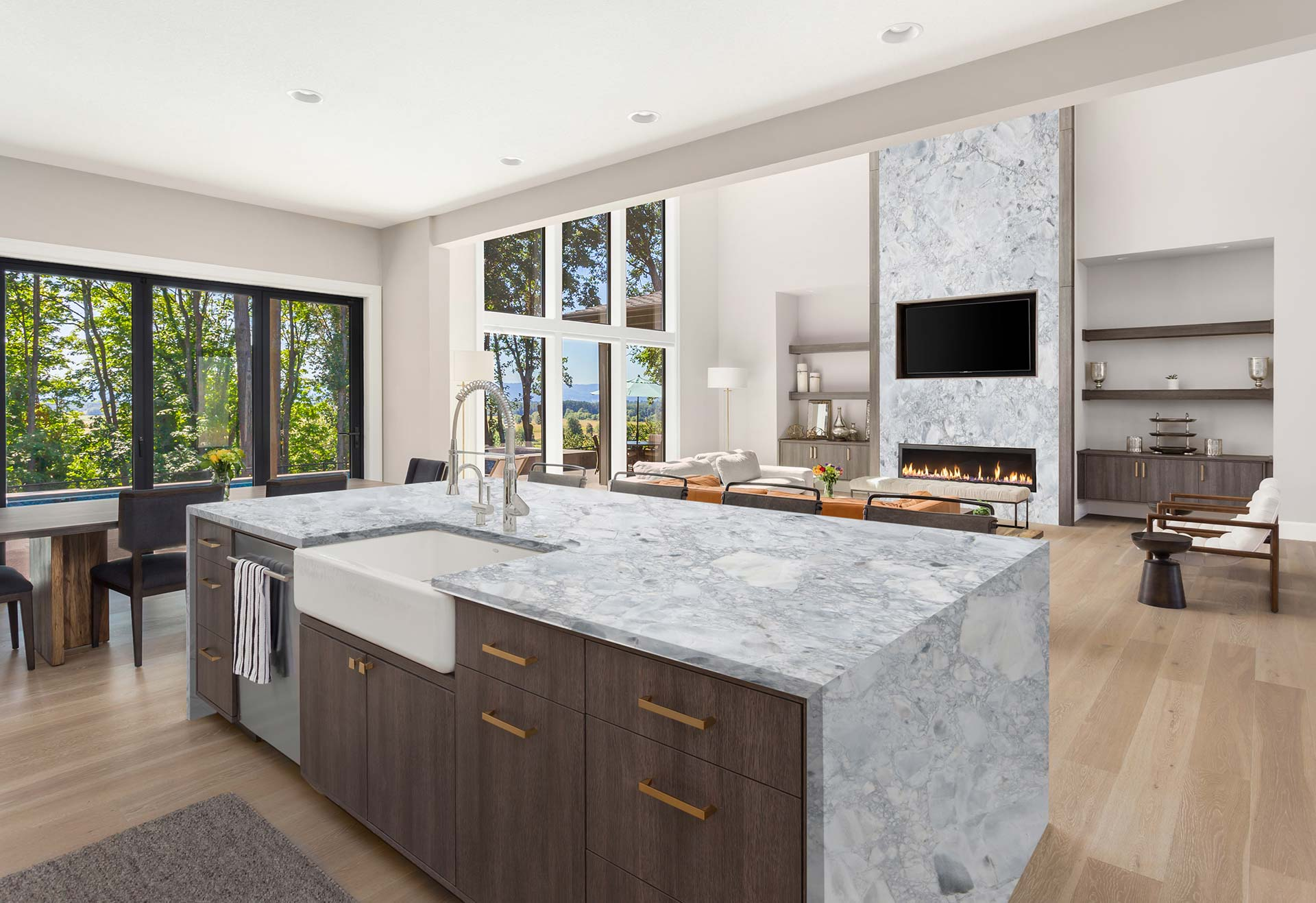 marble super white kitchen