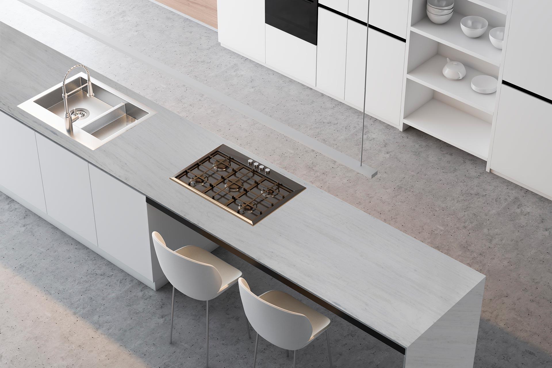 marble tesoro bianco countertop