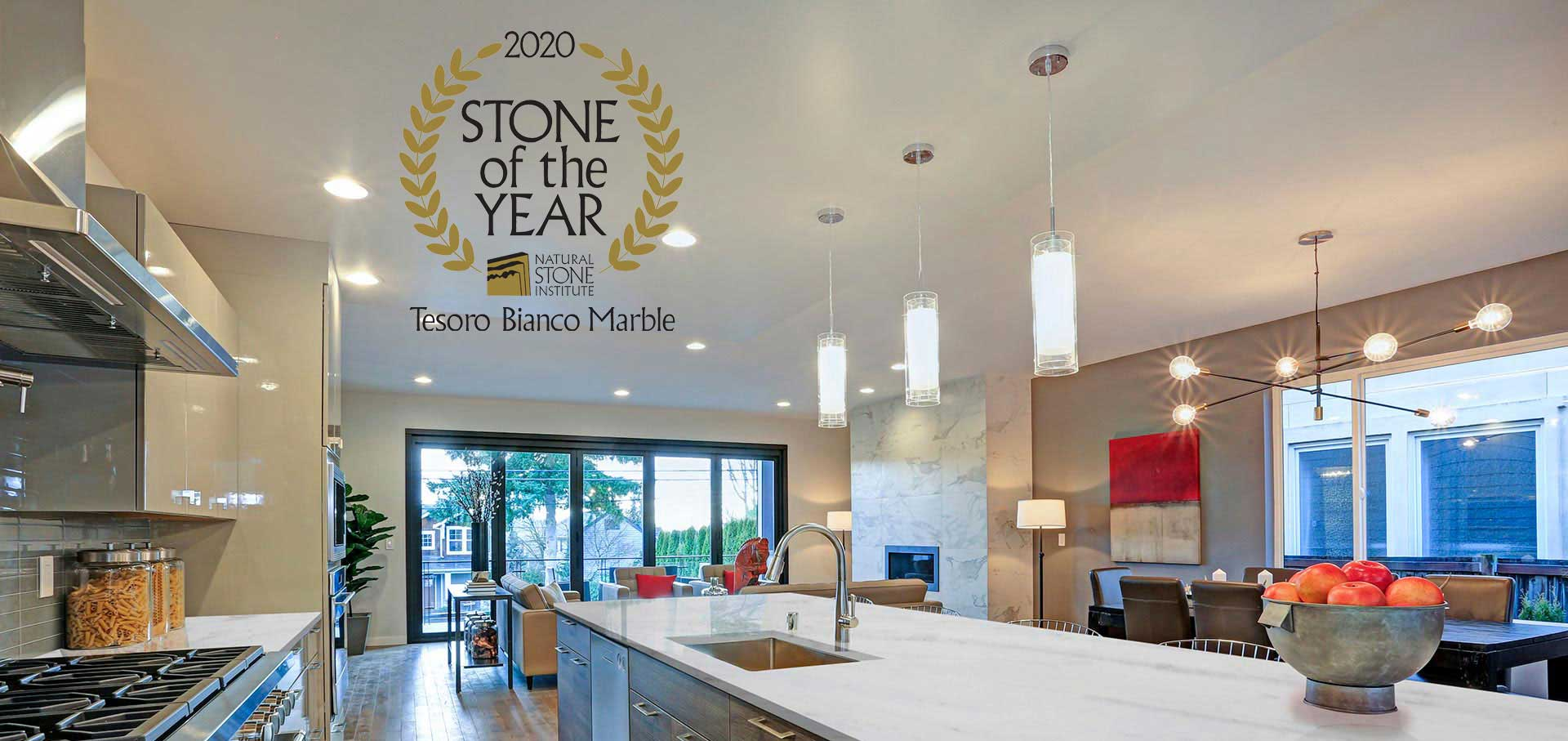 marble tesoro bianco kitchen stone of the year home