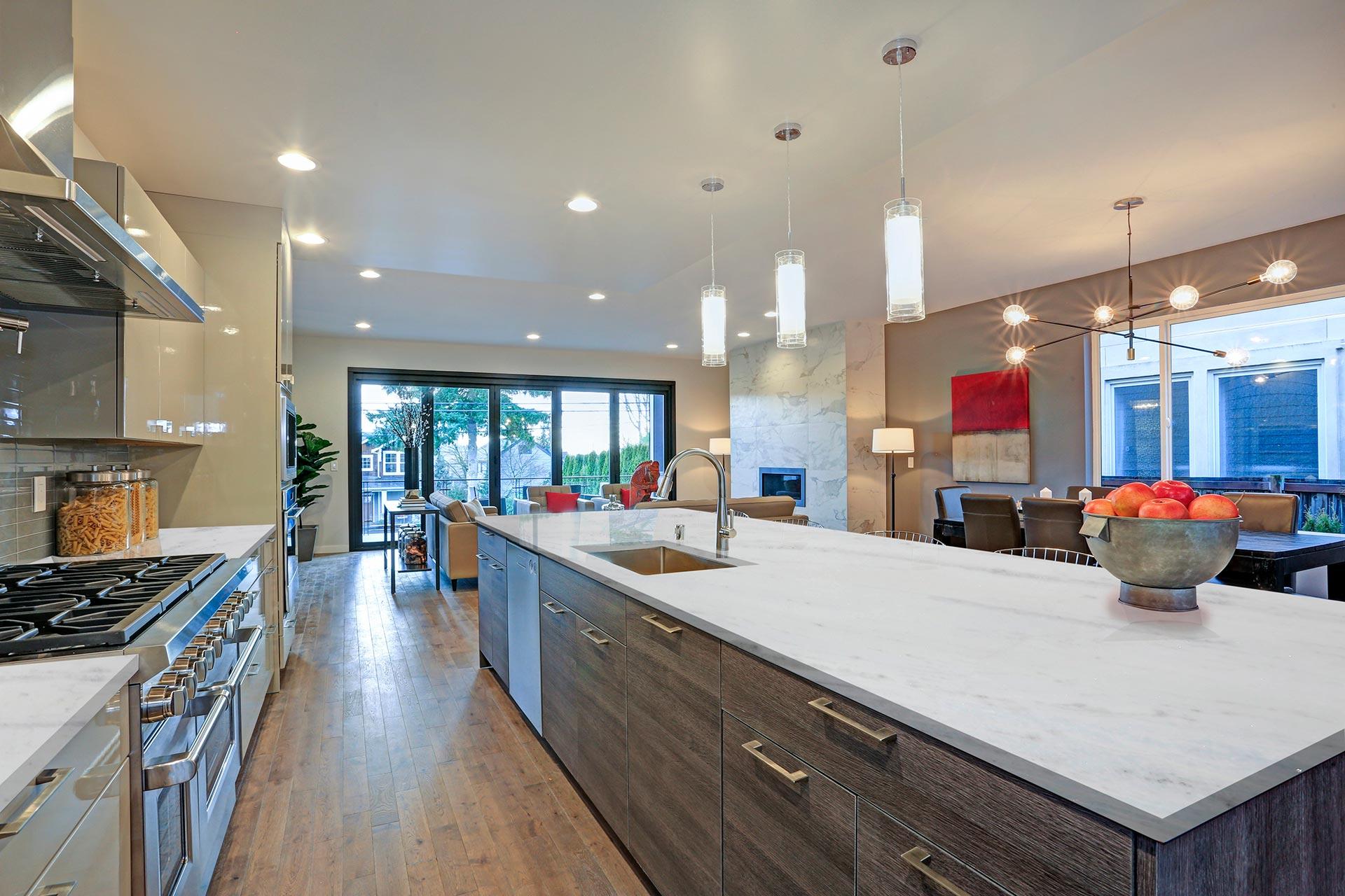 marble tesoro bianco kitchen