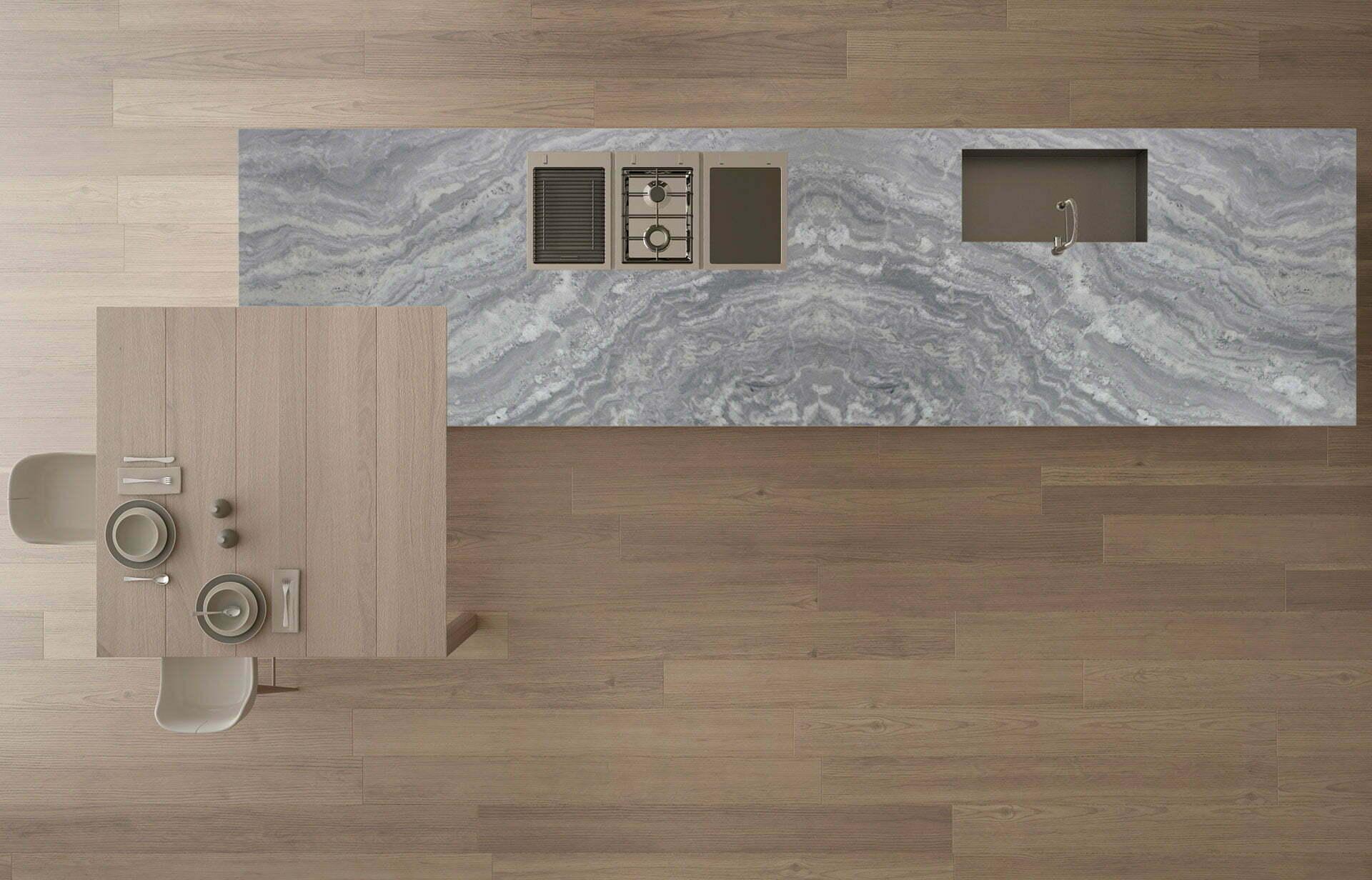 marble tesoro grigio countertop