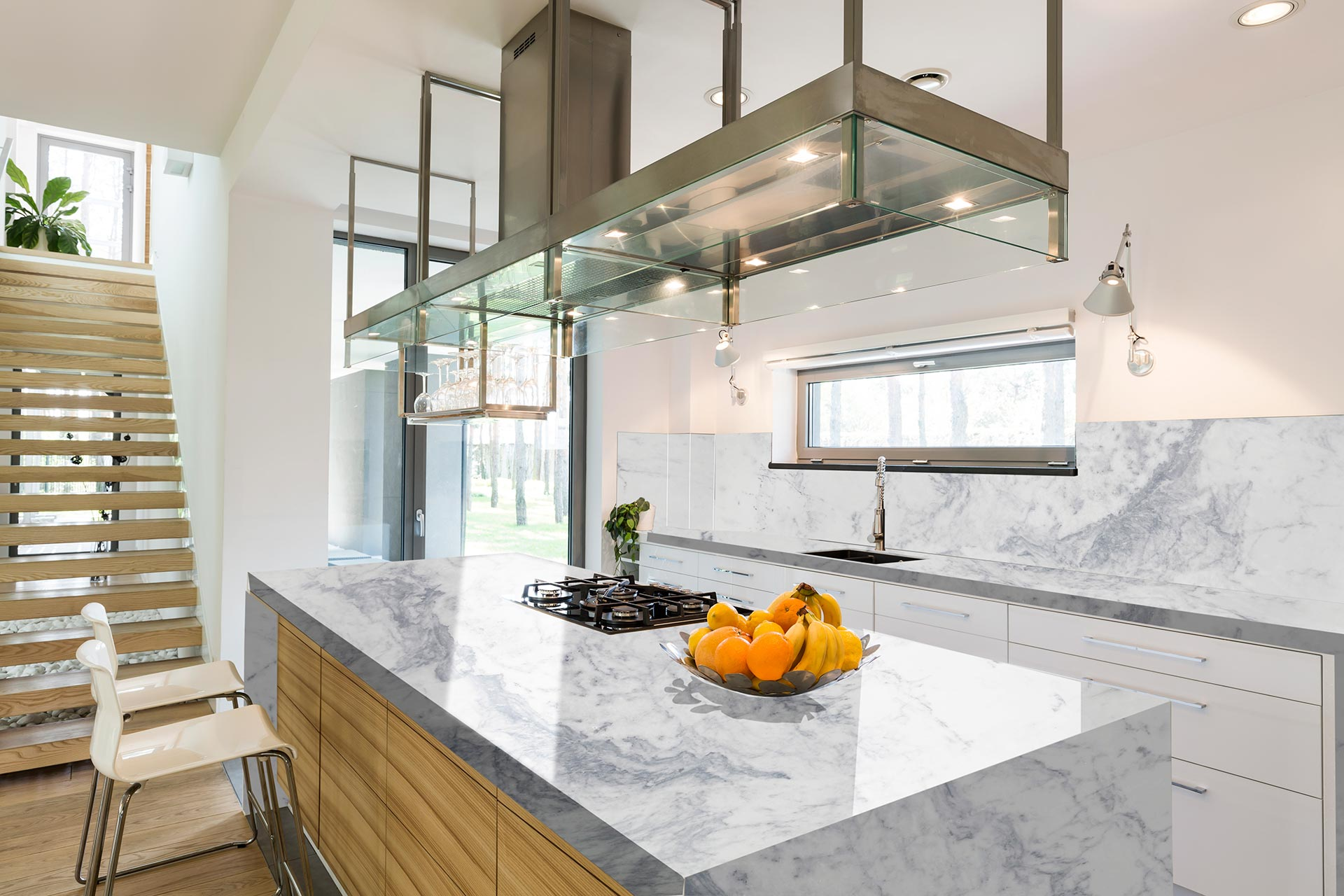marble white super kitchen