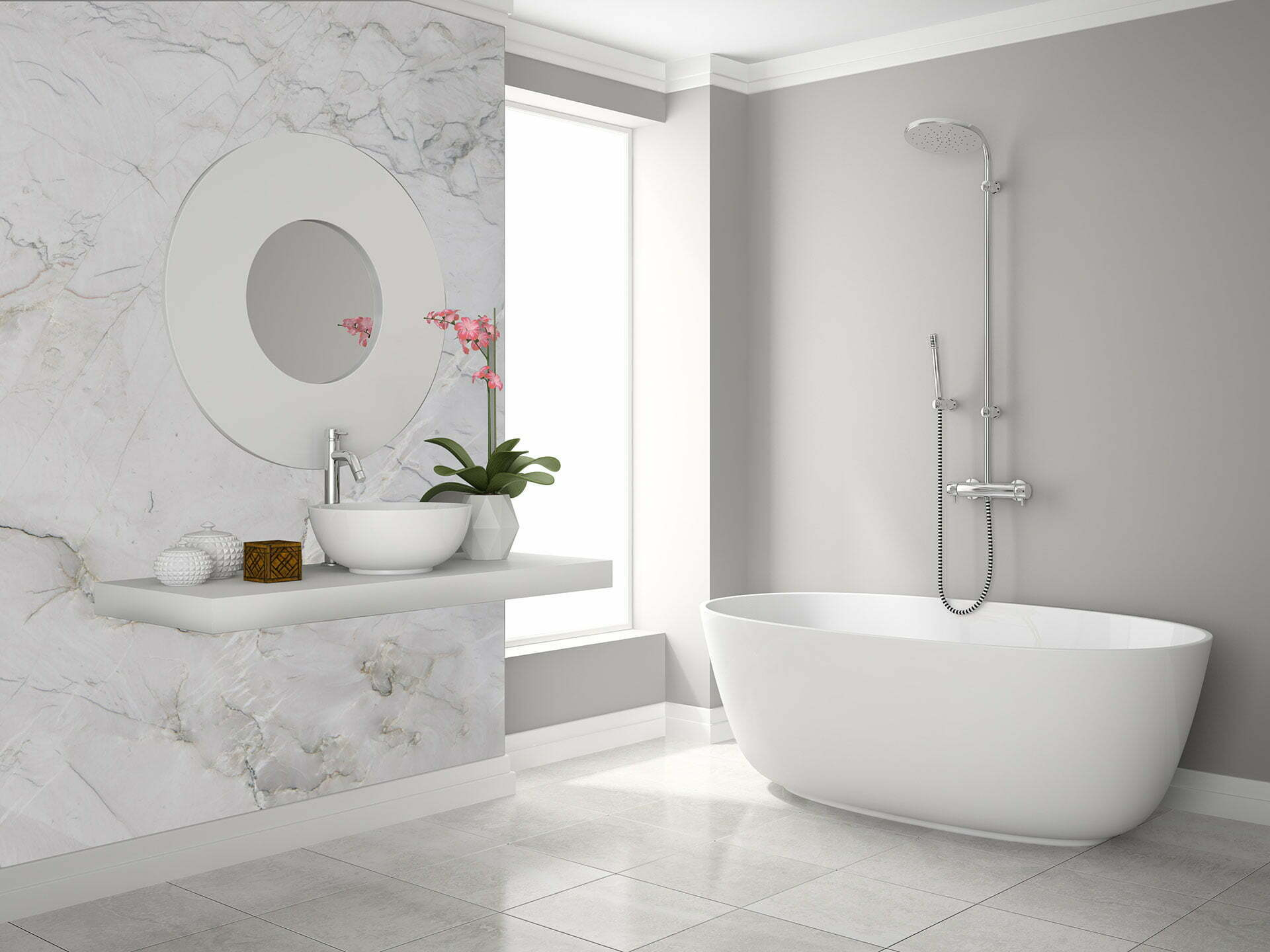 quartzite bianco superiore bathroom