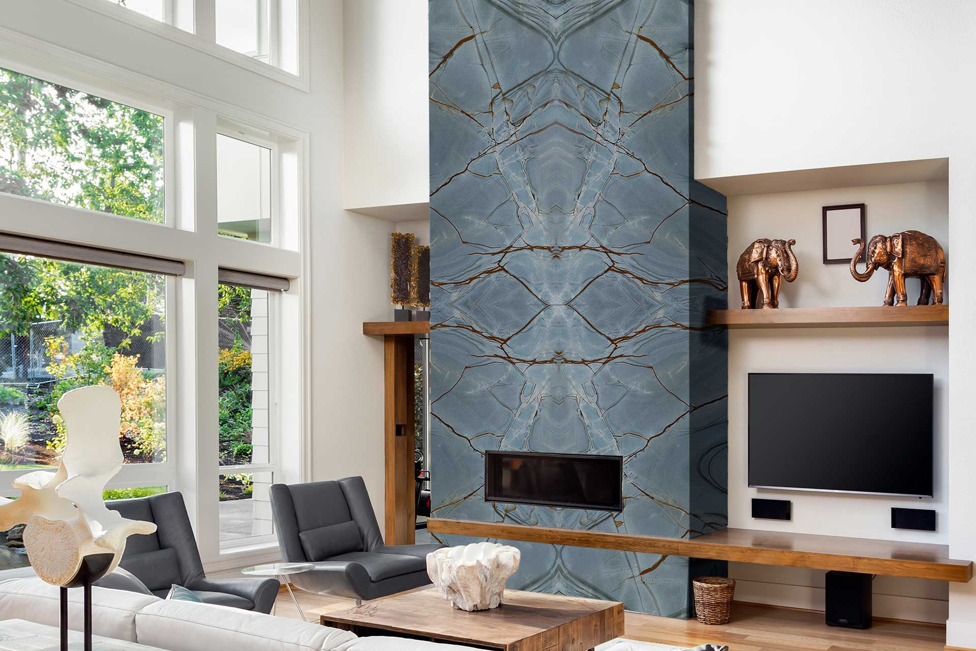quartzite blue deep living room