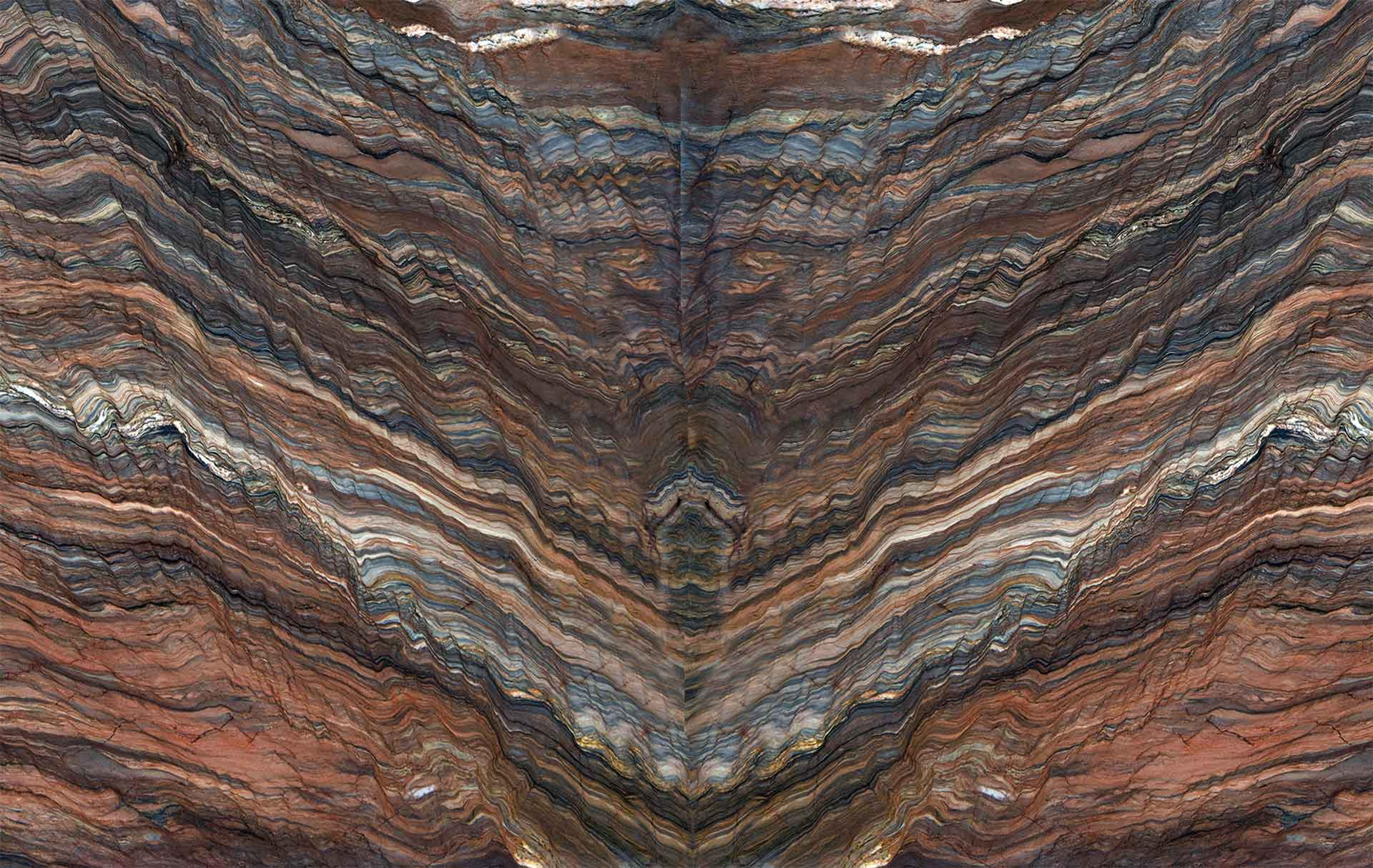 quartzite fusion multicolor bookmatch
