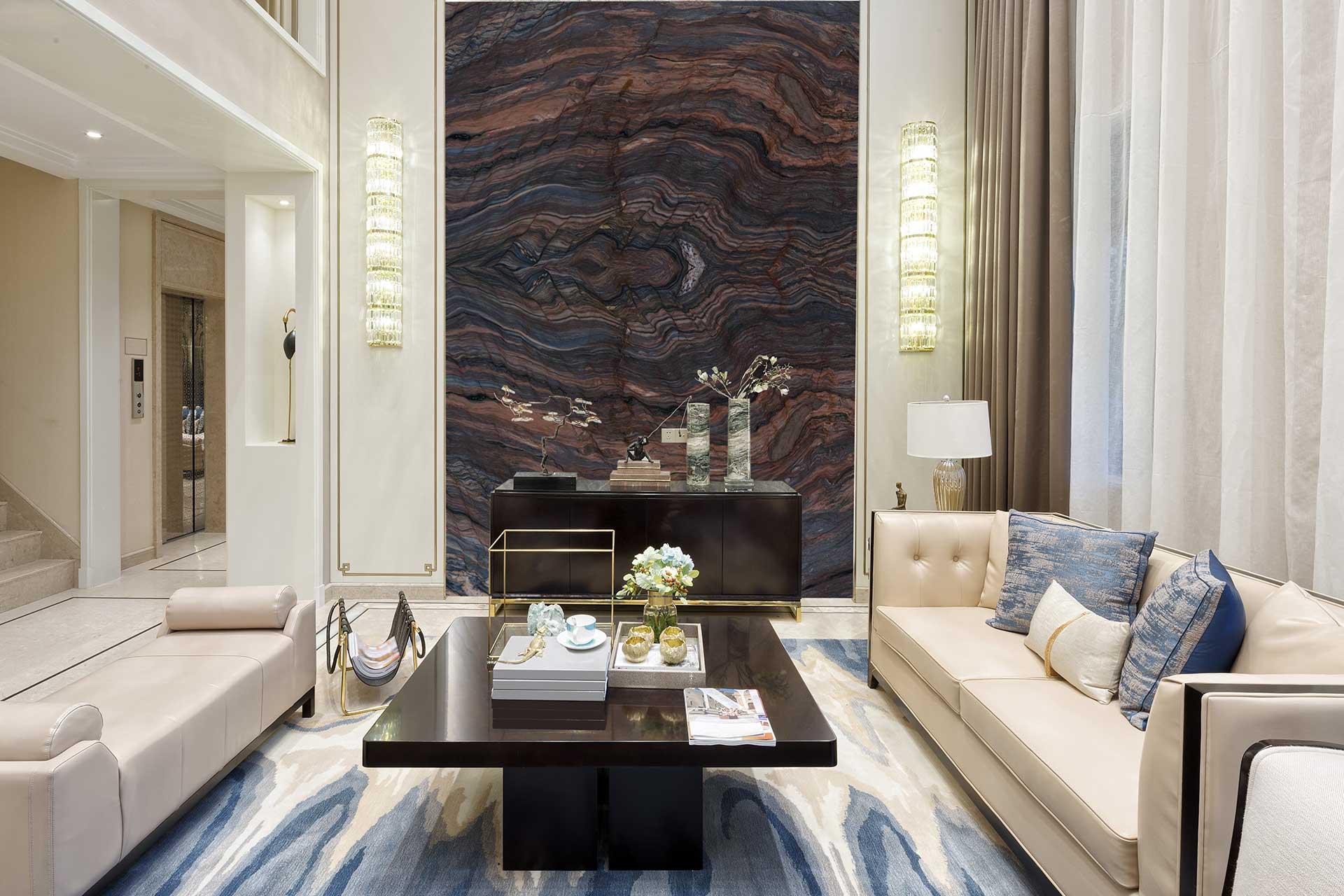 quartzite fusion multicolor livingroom