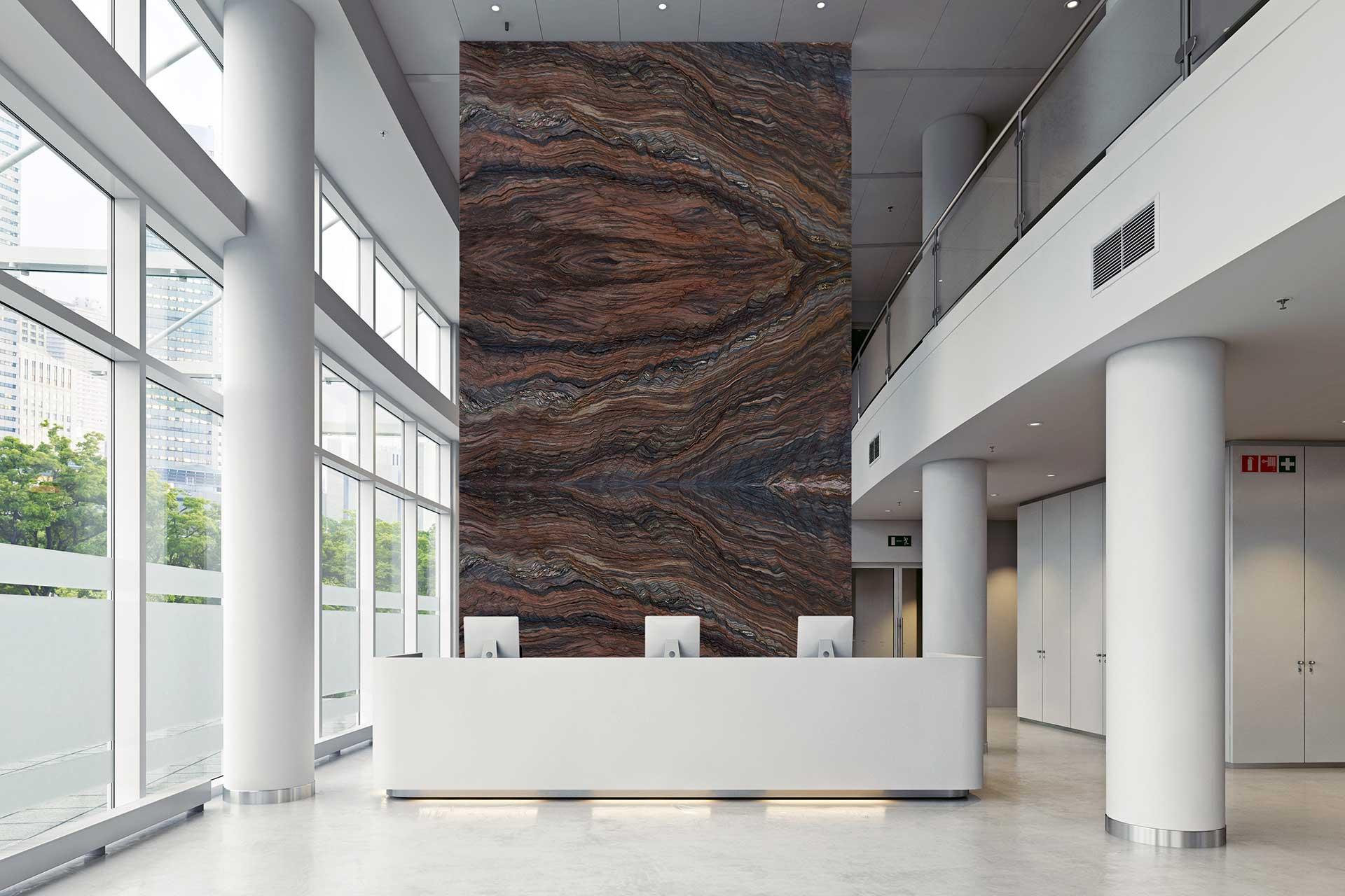 quartzite fusion multicolor lobby