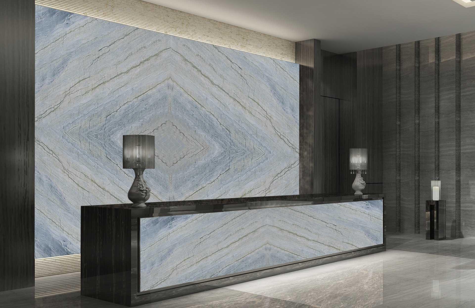 quartzite infinity gray lobby