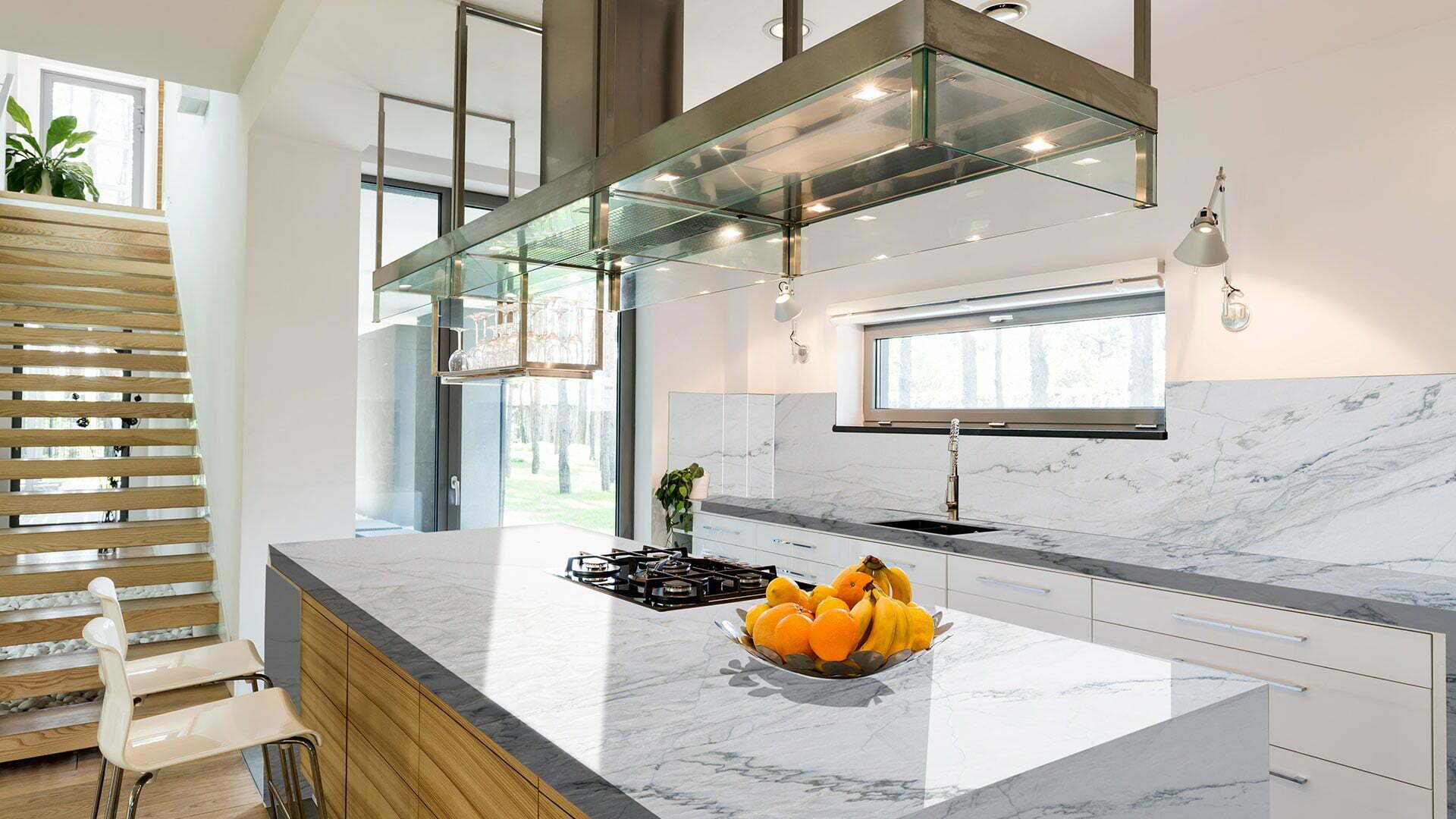 quartzite white macaubas kitchen