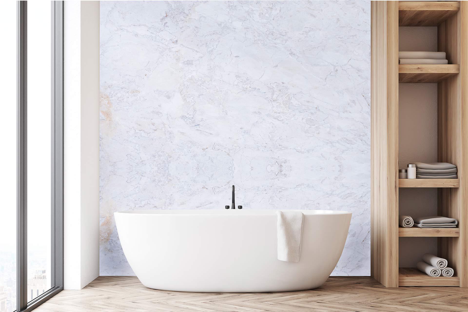 banheiro com banheira calacatta Columbus